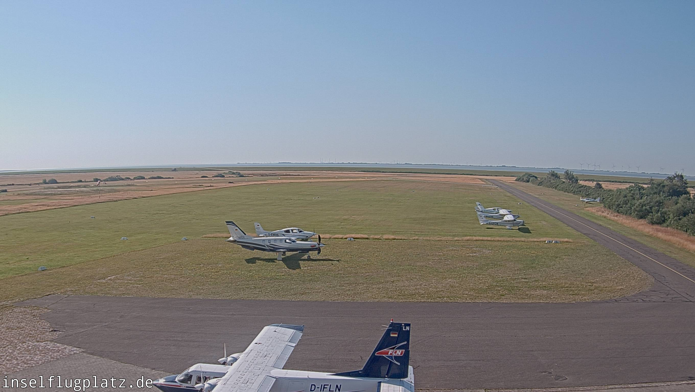 Wangerooge - Flugplatz Tower-Blick Richtung Süden